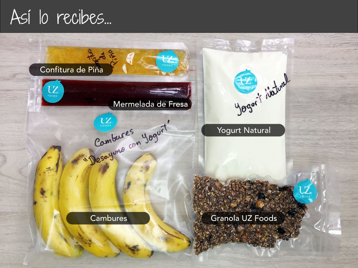 Yogurt Natural con Granola de Cereales y Frutos Secos