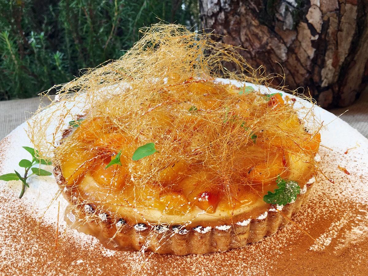 Tartaleta de Melocotones y Crema (Pequeña)