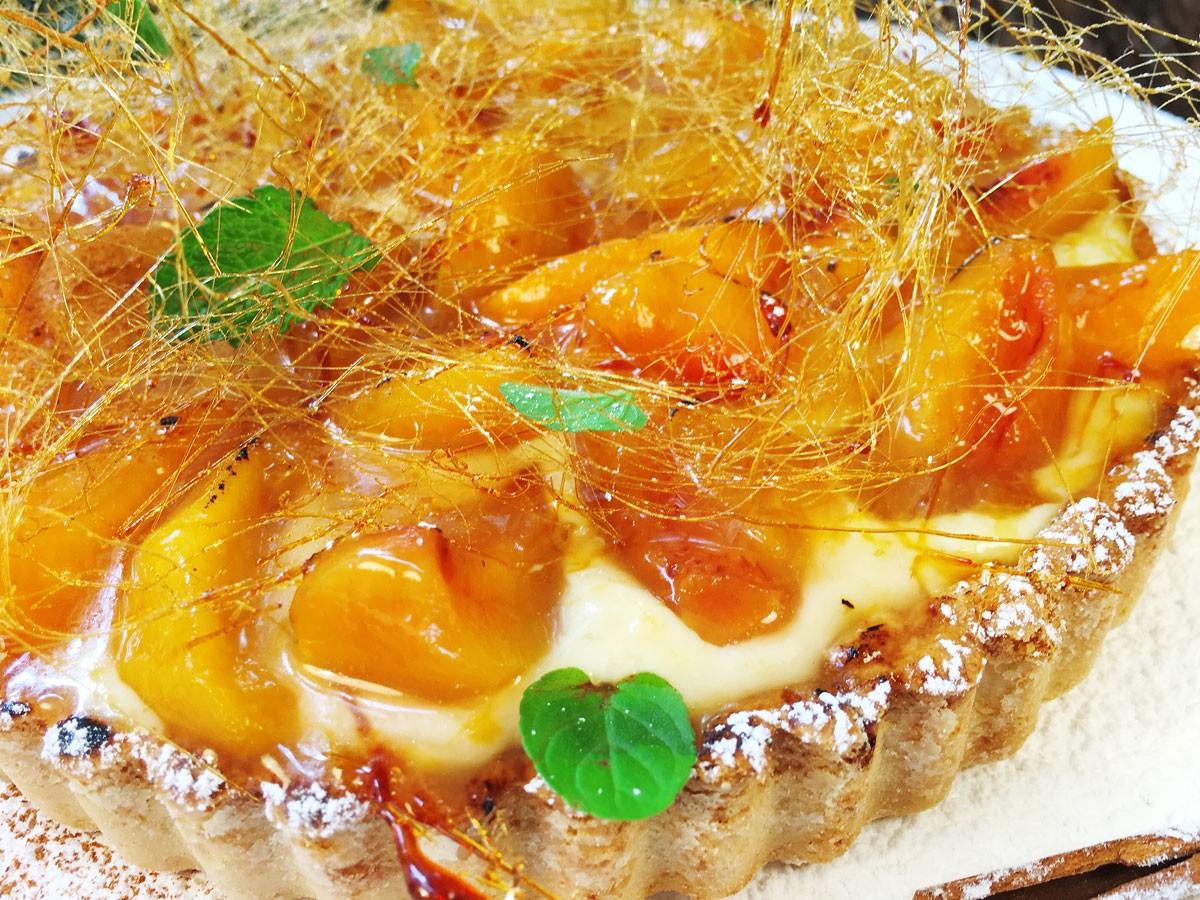 Tartaleta de Melocotones y Crema (Grande)